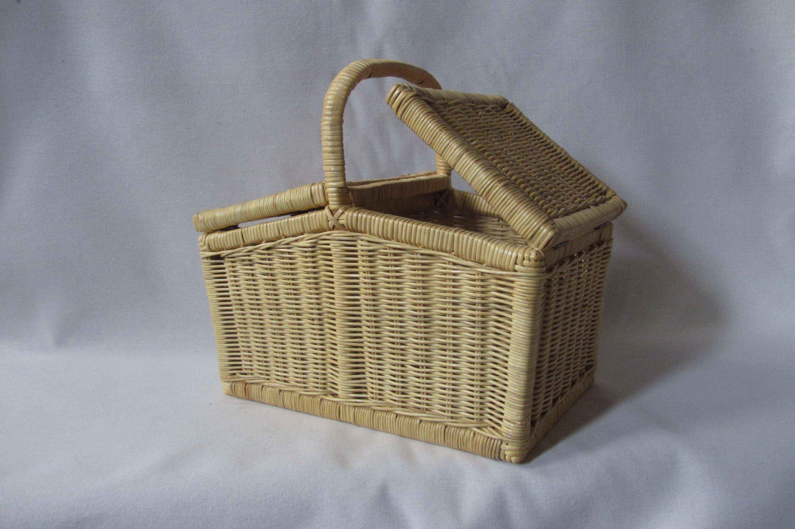 Rectangle Picnic Basket - Honey colour