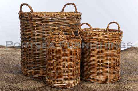 Tall Log Basket