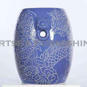 Etched Ceramic Stool