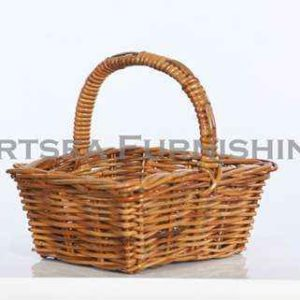 Tapered Rectangle Rattan Basket