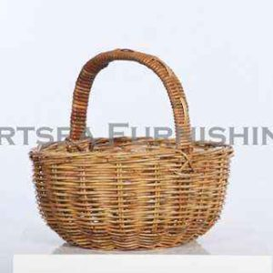 Rattan Oval Shopping Basket