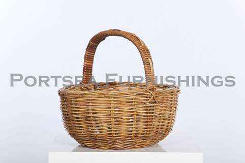 Rattan Oval Shopping Basket