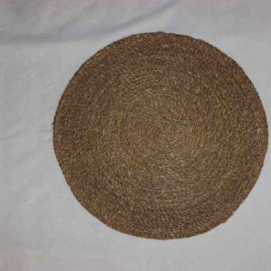 Round Seagrass Mat, Closed Weave