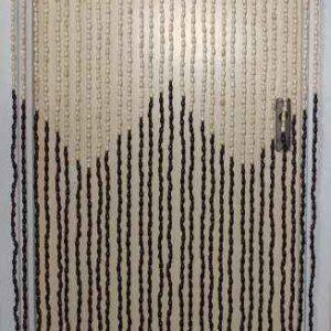 Timber door curtain